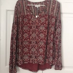 Lucky Brand new with tags red blouse